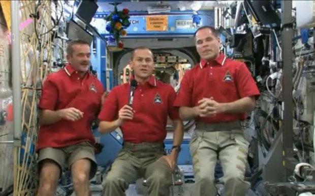 Astronautas envían saludo desde el Espacio Exterior