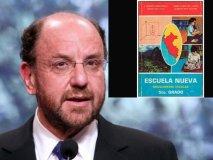 Canciller chileno Alfredo Moreno y libro de Escuela Nueva