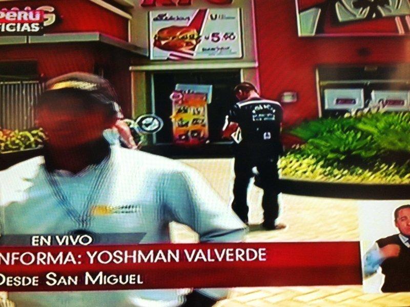 Agresivos empleados de seguridad taparon las cámaras de TV Perú