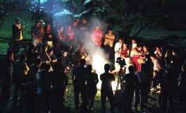 La ceremonia del amanecer fue realizada en Takalik Abaj (Prensa Libre)