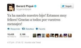 El anuncio de Gerard Piqué es TT en Twitter