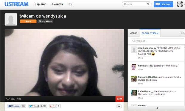 Twitcam de Wendy Sulca superó los 10 mil espectadores (Captura)