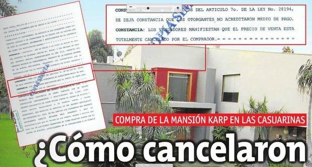 La mansión Karp sigue en la mira de la Fiscalía