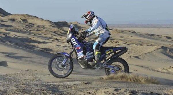 En motociclista francés Olivier Pain lidera el Rally Dakar en su categoría