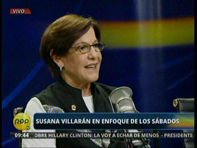 Susana Villarán (Captura RPP TV)