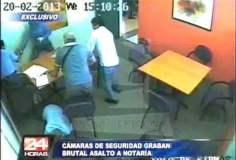 Violento asalto en notaría (Captura 24 Horas)