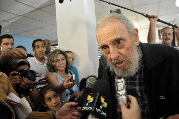 Fidel Castro declaró a la prensa (Foto: Juventud Rebelde de Cuba)
