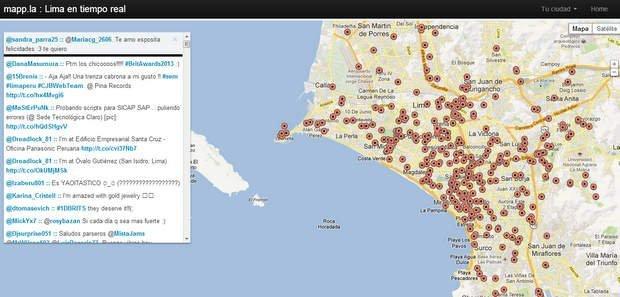 El nuevo mapa interactivo http://mapp.la/lima