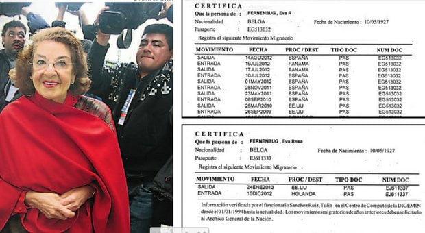 Reporte migratorio de Eva Fernenbug (Diario Correo)
