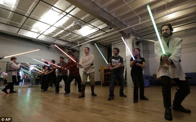 Caballeros Jedi en Escocia (Foto: Daily Mail)