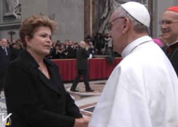 """Dilma Rousseff: """"El papa es argentino, pero Dios es brasileño"""""""