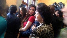 Bibi Gaytán,su esposo Eduardo Capetillo y la mamá de la cantante Lucero, presentes. (Tania L. Montalvo/CNNMéxico)