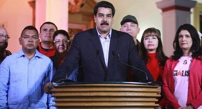 Nicolás Maduro y sus ministros