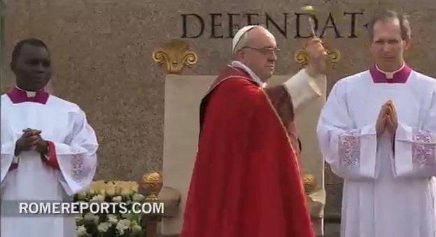 El Papa Francisco celebró Domingo de Ramos