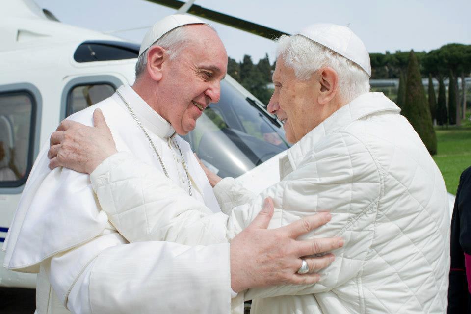 Cita histórica, el Papa Francisco visita a Benedicto XVI