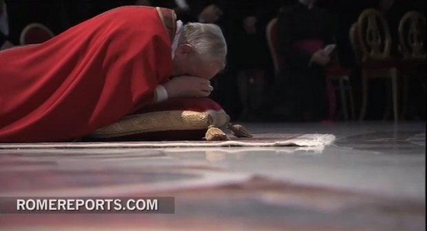 El Papa Francisco expresó humildad ante la Pasión de Cristo (Rome Repots)