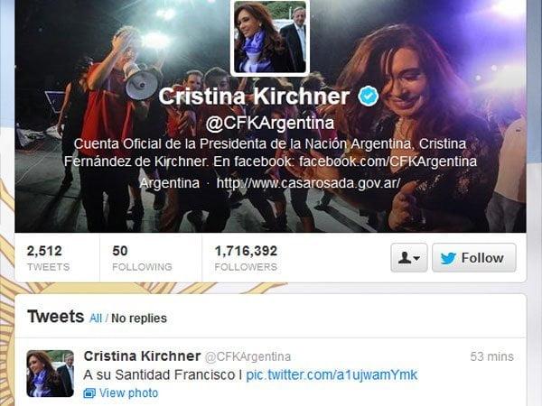 Tuit de Cristina Fernández