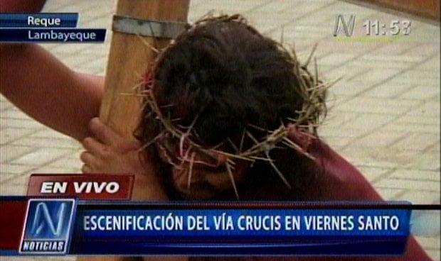 En Lambayeque escenifican sacrificio de Jesús (Canal N)