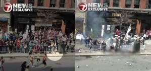 TV muestra imágenes de supuesta bomba en zona de maratón (7News)