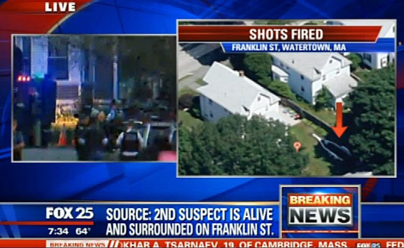 Sospechoso de atentado en Boston está vivo y rodeado por la policía