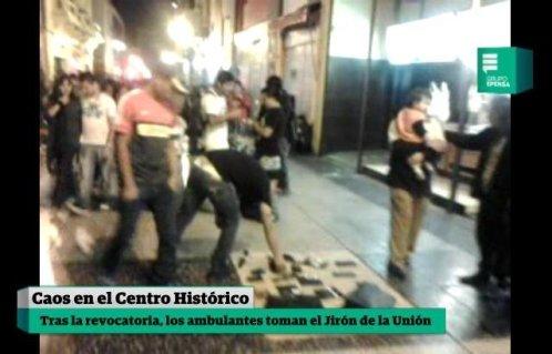 Ambulantes toman el Jirón de la Unión los fines de semana