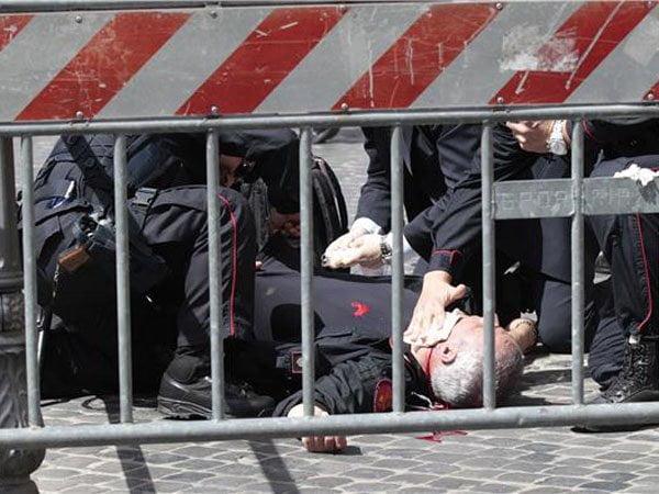 Tres heridos por tiroteo durante asunción de primer ministro de Italia