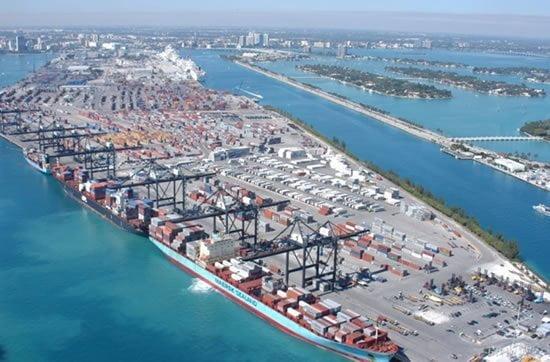 El puerto de Miami es el principal punto de arribo de la carga peruana hacia Estados Unidos.