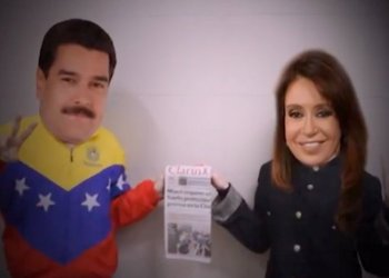 Videomontaje de Maduro y Cristina por escasez de papel higiénico
