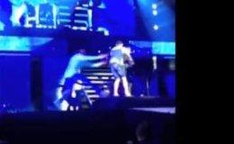 Fan ataca a Justin Bieber y lo tumba durante concierto en Dubai (Video)