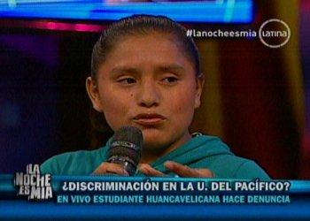 Joven huancavelicana denuncia discriminación en Universidad del Pacífico