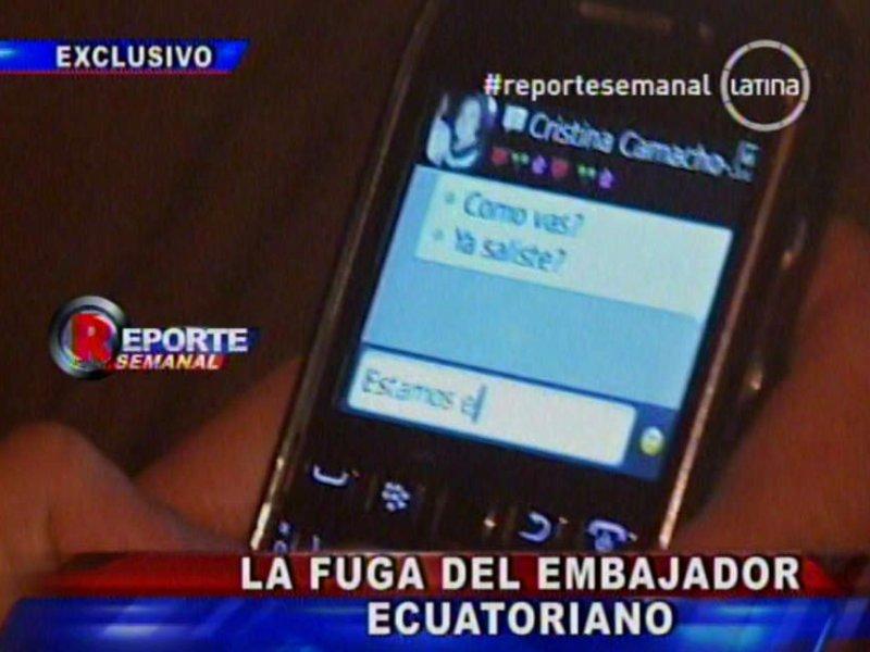 "Esposa de embajador Riofrío: ""Correa por primera vez se gana mi respeto"""