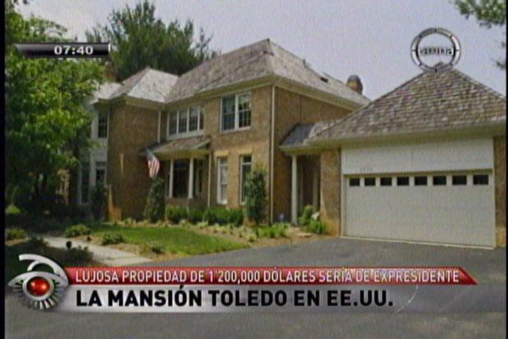 Toledo tendría otra mansión en EE.UU. valorizada en S/. 1'200,000
