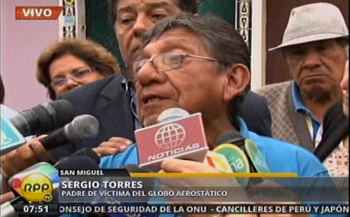 Sergio Torres, padre de Aldo Torres (RPP TV)