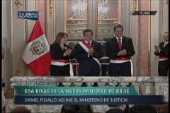 Eda Rivas juramenta y se convierte en la primera Canciller mujer del Perú