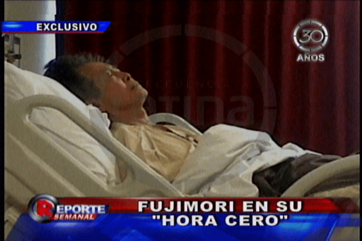 Fujimori extremadamente delgado y postrado según nuevo video