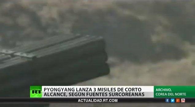 Amenaza de guerra: Seúl asegura que Corea del Norte lanzó tres misiles (Video)