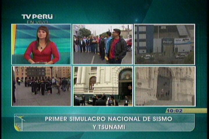 Simulacro de Sismo y Tsunami: Ciudadanos y autoridades participan masivamente