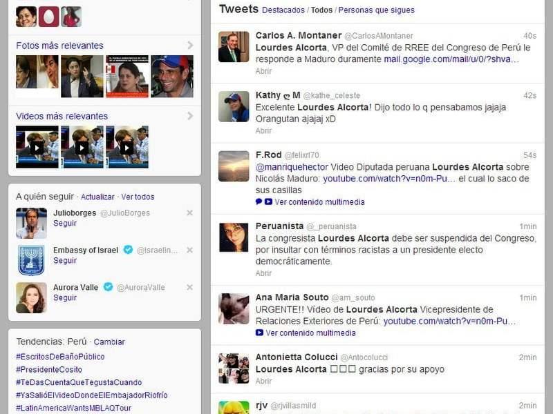 Lourdes Alcorta es tendencia entre tuiteros venezolanos por críticas al Chavismo