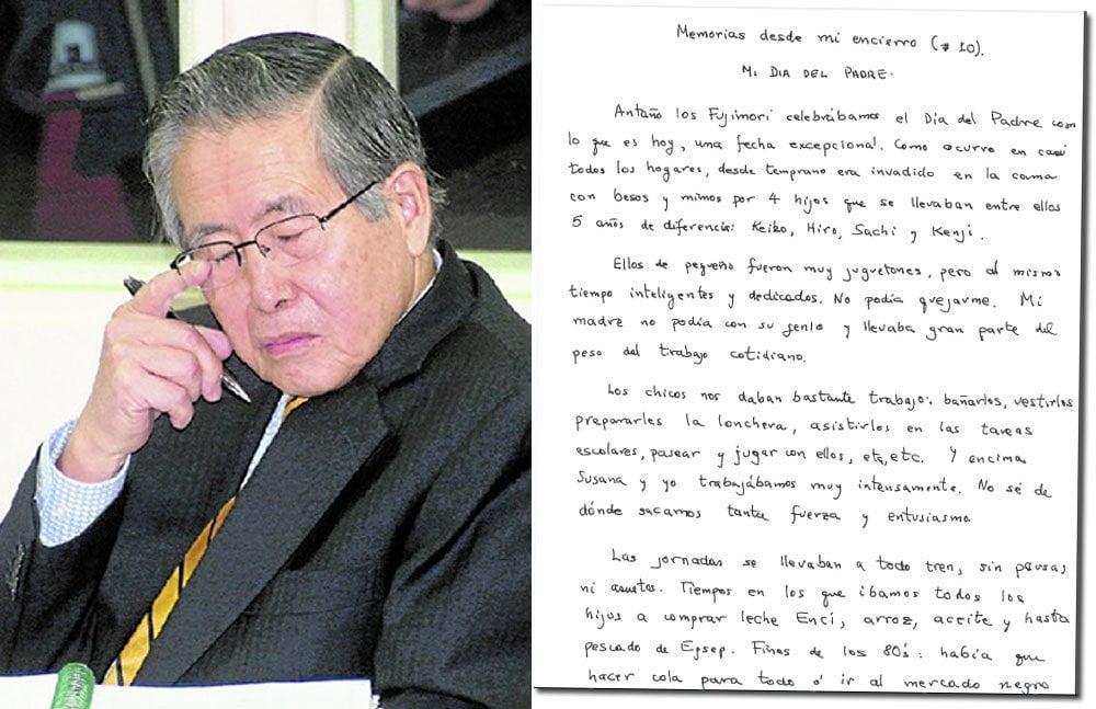 Fujimori añora a Susana Higuchi y dice que hoy vive un suplicio