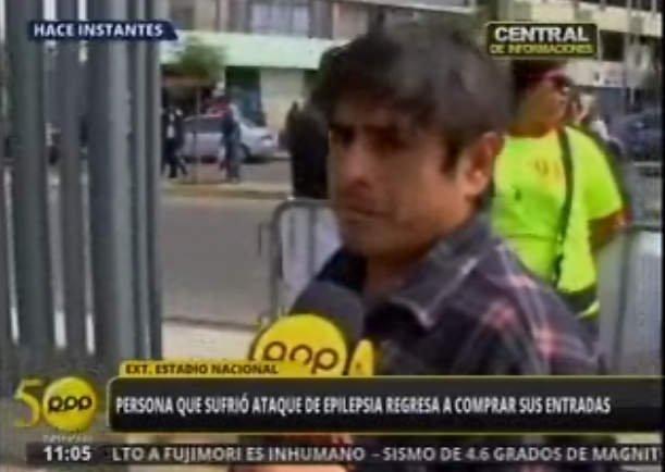 Perú vs Ecuador: Le dio epilepsia, lo llevan a hospital y regresa por entradas