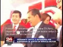 (Video 24 Horas) Humala maltrata a reportero radial pero prefiere al de TV Perú