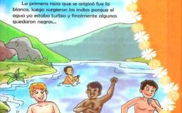 Libro de primaria con frases racistas: Los 'indios' y 'negros' salieron del 'agua turbia