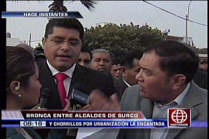 Alcaldes de Surco y Chorrillos casi se agarran a golpes por límites