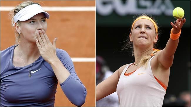 Sharapova y Azarenka jugarán mañana por el pase a la final de Roland Garros.
