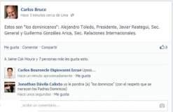 Bruce confirma polémico viaje de Toledo con Reátegui y Gonzales Arica