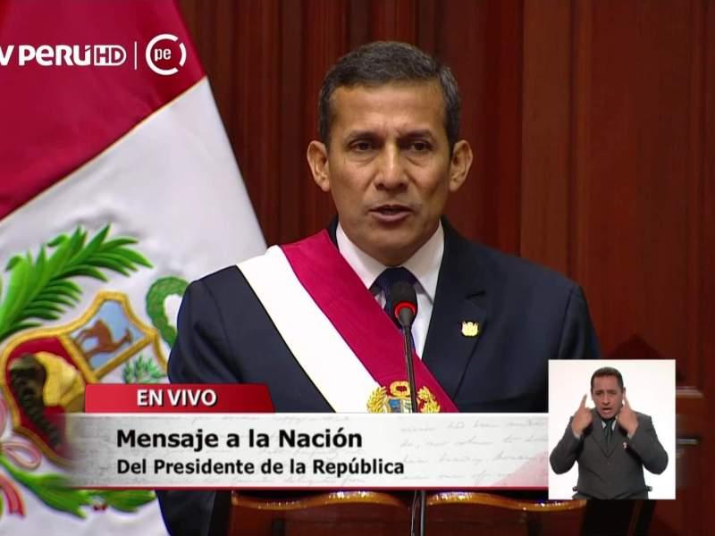 El Mensaje Presidencial del presidente Ollanta Humala (Documento)