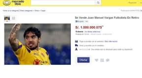 """Oferta hilarante: """"Loco"""" Vargas vale S/. 1'000.000 en Internet"""