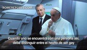 El Papa Francisco no teme a posible atentado y no juzgará a gays (Video)