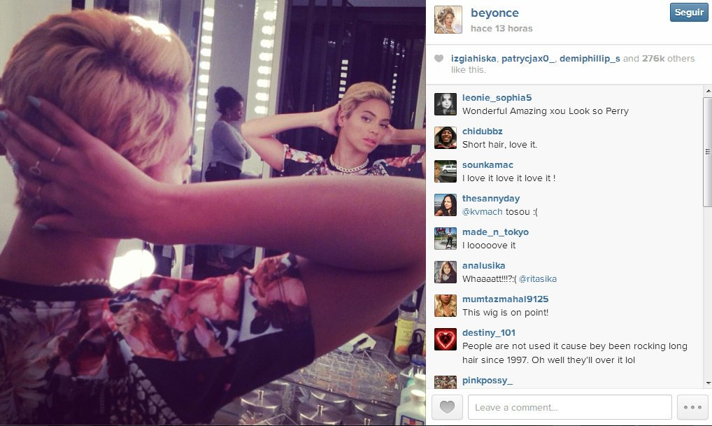 (FOTOS) Beyonce cortó su larga cabellera y así luce ahora