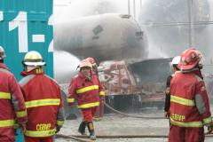 Incendio en planta de gas Pecsa dejó cuatro heridos y cuantiosos daños materiales